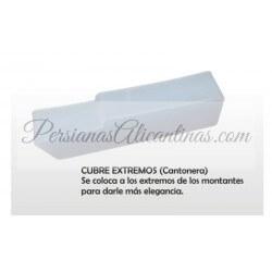 Cubre extremos cantoneras para persianas alicantinas