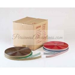 14 Rollos - Cortina de cinta exterior bicolor