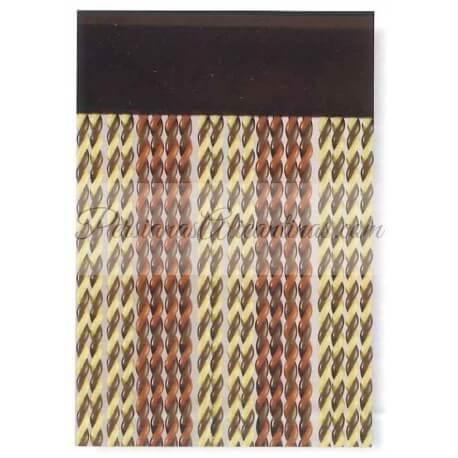 1 Rollo – Cortina cordón rizado antimoscas modelo Rubi