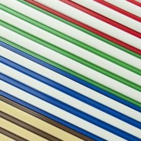 Cortina de cinta exterior bicolor a medida