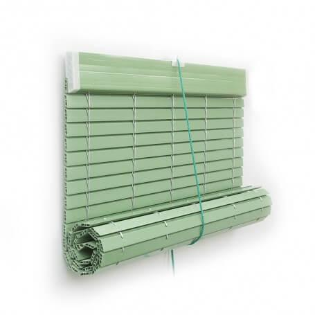 Persiana Alicantina plástico polea PVC Color Verde