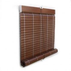 Persiana Alicantina plástico nogal e imitación madera polea PVC a medida
