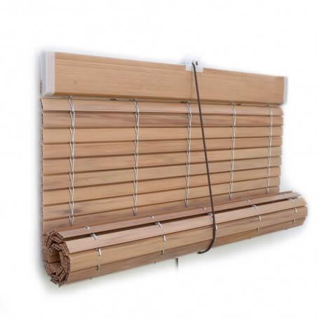 Persiana Alicantina plástico color madera imitación