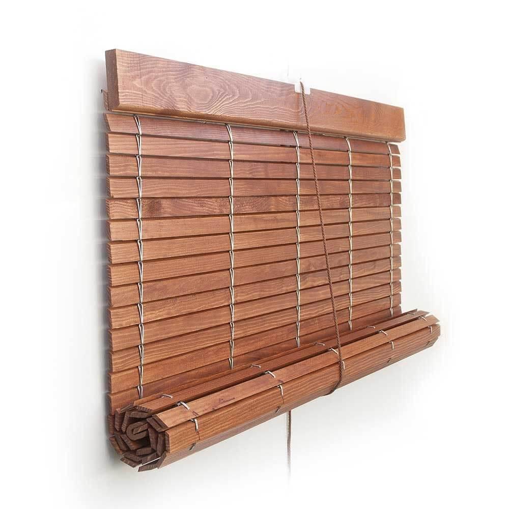 Pacp persiana alicantina madera barnizados polea pvc a - Persiana enrollable madera ...