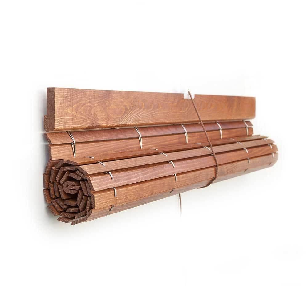 Pacp persiana alicantina madera barnizados polea pvc a - Madera a medida ...