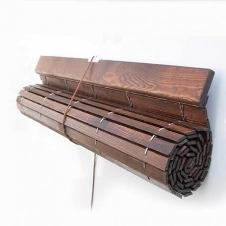 Persiana Alicantina madera CEREZO barnizado polea PVC a medida