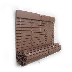 Persiana Alicantina madera polea metálica a medida madera pintada