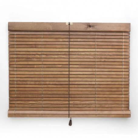 Persiana-alicantina-madera-pino-natural-nogal-claro-barnizada-frente