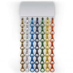 Cortina exterior de cadenas de aluminio de colores a medida
