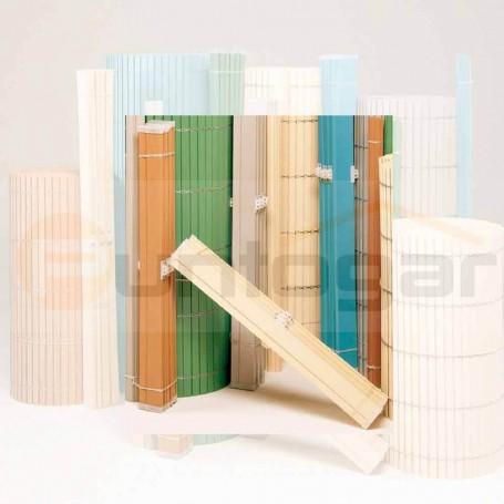 PA - Montante-cabezal plástico-pvc de persianas alicantinas con polea y cantoneras de pvc