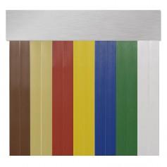 Cortina en cinta exterior para puertas PVC antimoscas BRUSELAS