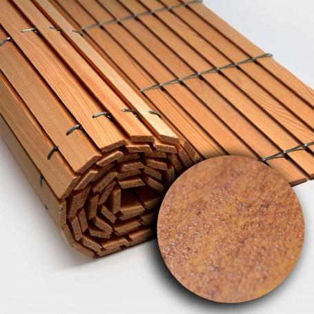 Rollos persiana alicantina de madera color cerezo barnizado