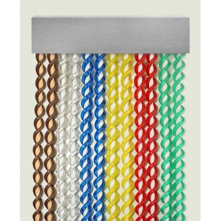 Cortina exterior para puertas PVC antimoscas a medida SICILIA - plata