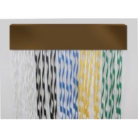 Cortina exterior para puertas PVC antimoscas a medida XENON bronce