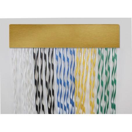 Cortina exterior para puertas PVC antimoscas a medida XENON oro
