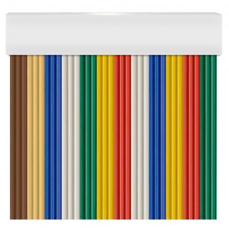 Cortina en cinta exterior para puertas PVC blanco antimoscas NIZA