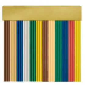 Cortina en cinta exterior para puertas PVC oro antimoscas NIZA
