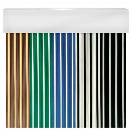 Cortina en cinta exterior para puertas PVC blanco antimoscas CANARIAS
