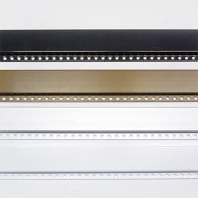 Montante aluminio N5 para cortinas de cadenilla paso 100