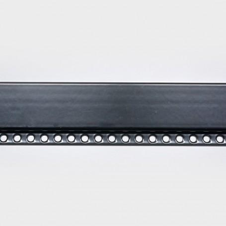 Negro Montante aluminio N5 para cortinas de cadenilla paso 100