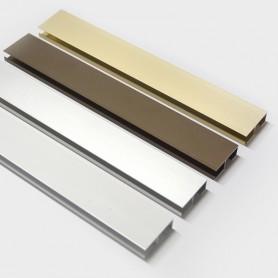 Montante aluminio N2 para cortinas de línea sencilla de cintas