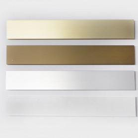 Montante aluminio N1 para cortinas de cintas doble-trabada