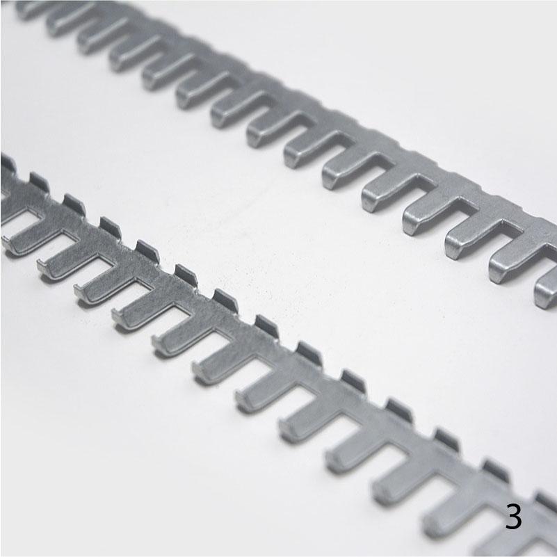 Peine n3 sujeción tiras cortina para puertas